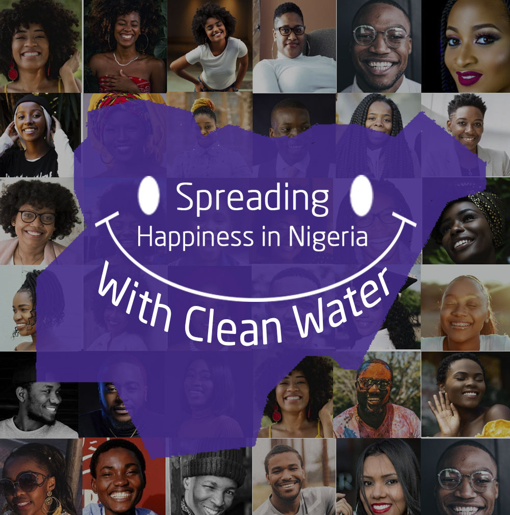 spreading happiness in nigerian with clean Water